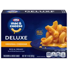 Kraft Macaroni & Cheese Dinner, Original Cheddar, Deluxe