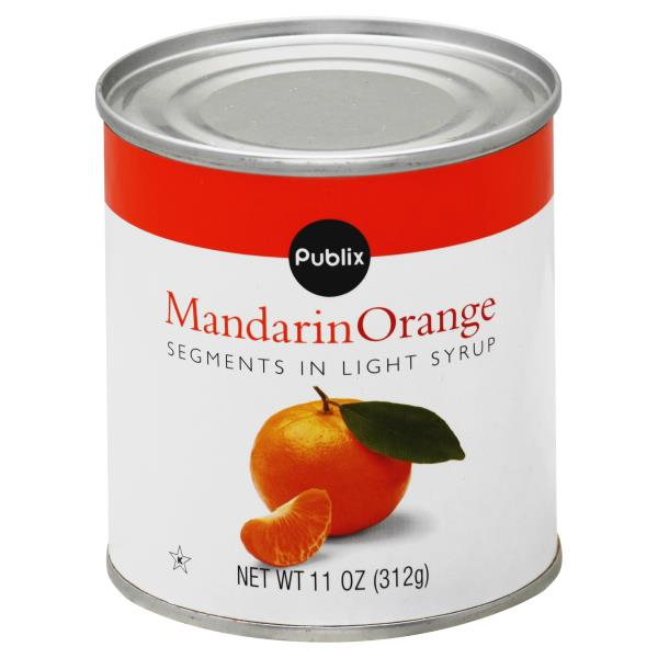 Publix Mandarin Orange, Mandarin, Segments in Light Syrup