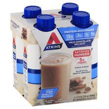 Atkins Shake, Protein-Rich, Milk Chocolate Delight