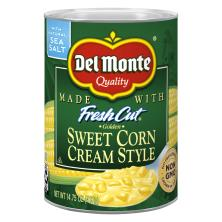 Del Monte Fresh Cut Corn, Golden Sweet, Cream Style