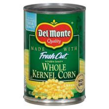 Del Monte Corn, Whole Kernel, Golden Sweet, with Natural Sea Salt
