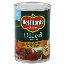 Del Monte Tomatoes, with the Flavors of Basil, Garlic & Oregano, Diced