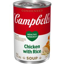 Campbells Healthy Request Soup, Condensed, Chicken with Rice
