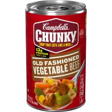 Campbells Chunky Soup, Old Fashioned Vegetable Beef