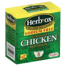 Herb Ox Bouillon Packets, Granulated, Sodium Free, Chicken Flavor