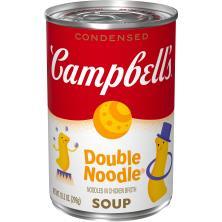 Campbells Soup, Condensed, Double Noodle, Classic Recipe