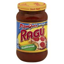 Ragu Snack Sauce, Pizza Quick, Traditional