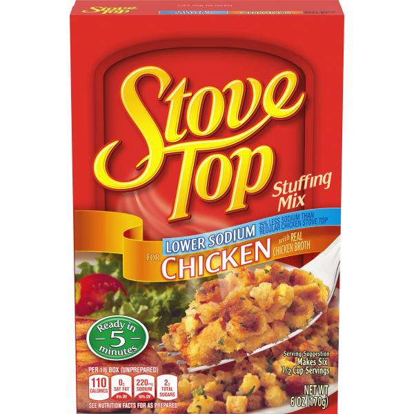 Stove Top Stuffing Mix, Lower Sodium, for Chicken