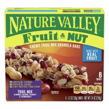 Nature Valley Granola Bars, Chewy Trail Mix, Fruit & Nut
