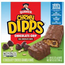 Quaker Chewy Dipps Granola Bars, Chocolate Chip, Chocolatey Covered