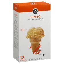 Publix Ice Cream Cones, Jumbo