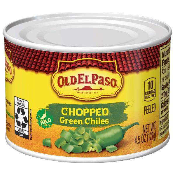 Old El Paso Green Chiles, Mild, Chopped