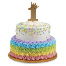 Gold Crown 1st Birthday Signature Cake