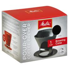 Melitta Coffee Brewer, Pour-Over, Brewing Cone, 1 Cup