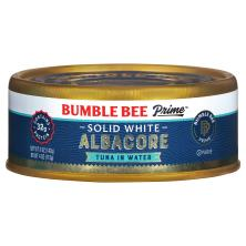 Bumble Bee Prime Fillet Tuna, Solid White Albacore, in Water