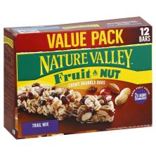 Nature Valley Granola Bars, Chewy Trail Mix, Fruit & Nut Variety Pack, Value Pack