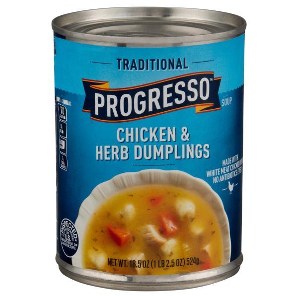 Progresso Traditional Soup, Chicken & Herb Dumplings