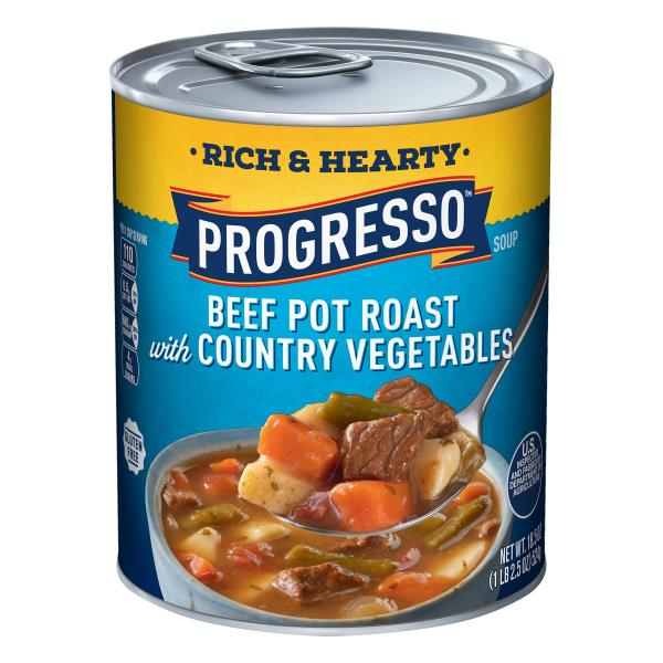 Progresso Rich & Hearty Soup, Beef Pot Roast with Country Vegetables