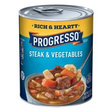 Progresso Rich & Hearty Soup, Steak & Vegetables