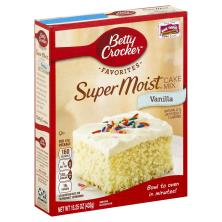 Betty Crocker Favorites Cake Mix, Super Moist, Vanilla