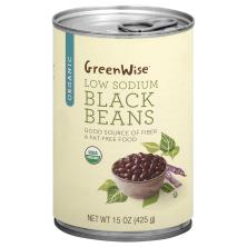GreenWise Black Beans, Low Sodium, Organic