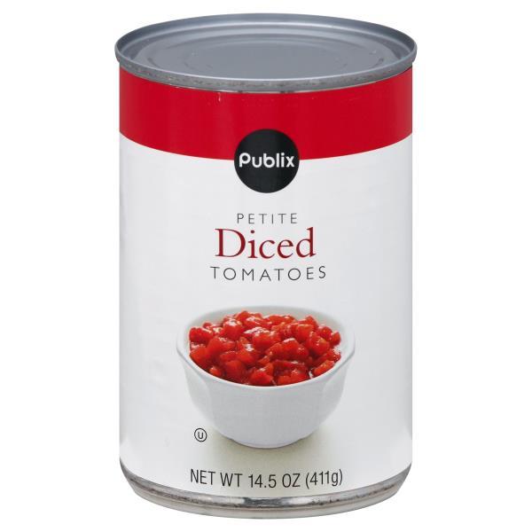 Publix Tomatoes, Diced, Petite