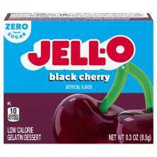 Jell O Gelatin Dessert, Low Calorie, Sugar Free, Black Cherry