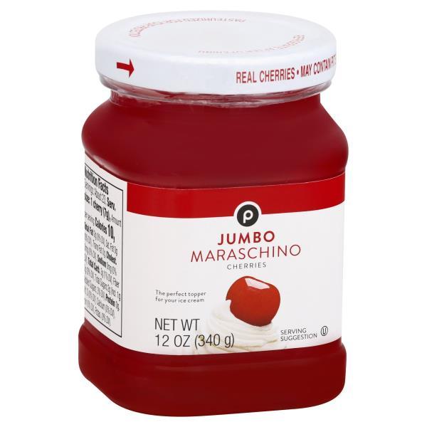 Publix Cherries, Maraschino, Jumbo