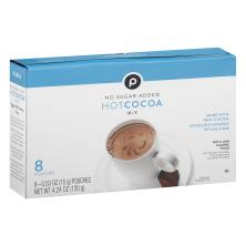 Publix Hot Cocoa Mix, No Sugar Added, Milk Chocolate Flavored