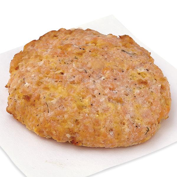 Salmon Burgers, Lemon-Dill-Seasoned Fresh, Fully Cooked