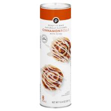 Publix Cinnamon Rolls, with Vanilla Icing