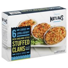 Matlaws Stuffed Clams, New England Style, Large