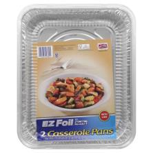 EZ Foil Casserole Pans, with Lids