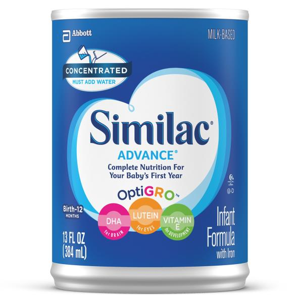 Similac Advance Infant Formula, Concentrated, with Iron, Birth to 12 Months