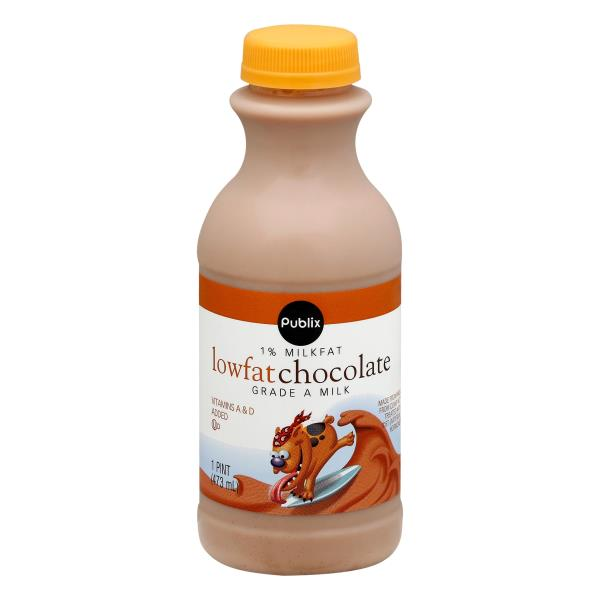 Publix Milk, Lowfat, Chocolate, 1% Milkfat