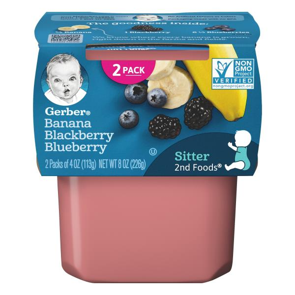 Gerber 2nd Foods Banana Blackberry Blueberry