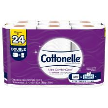 Cottonelle Ultra ComfortCare Bathroom Tissue, Double Rolls, 2-Ply