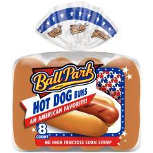 Ball Park Hot Dog Buns, Pre-Sliced
