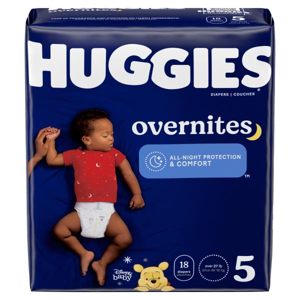 Huggies OverNites Diapers, Size 5 (Over 27 lb), Disney Baby