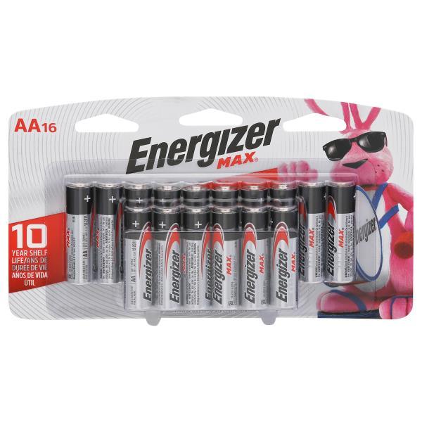 Energizer Max Batteries, Alkaline, AA