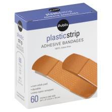 Publix Bandages, Adhesive, Sheer Strip, One Size
