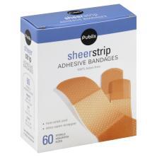 Publix Bandages, Adhesive, Sheer Strip, Assorted Sizes