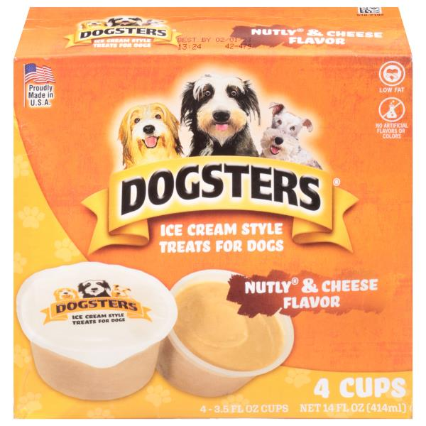 Dogsters Treats for Dogs, Ice Cream Style, Nutly Peanut Butter and Cheese Flavor