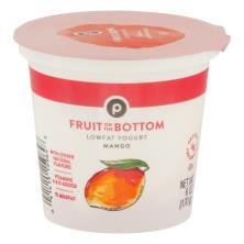 Publix Yogurt, Lowfat, Fruit on the Bottom, Mango