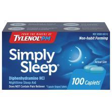 Simply Sleep Nighttime Sleep Aid, 25 mg, Caplets