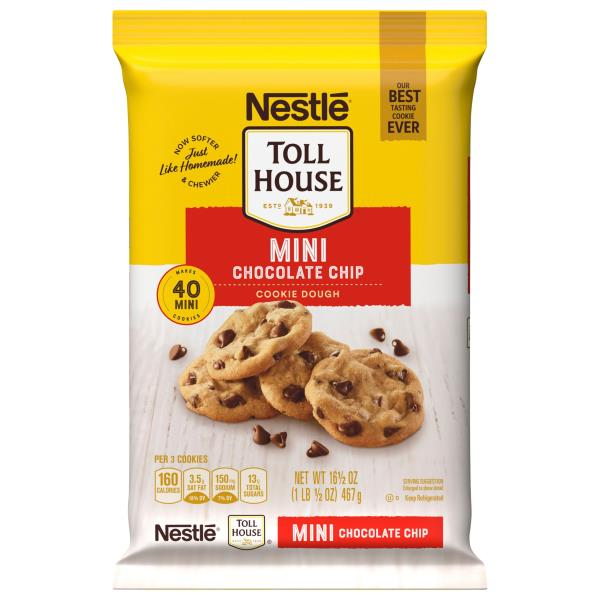 Toll House Cookie Dough, Mini Chocolate Chip