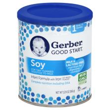 Gerber Good Start Infant Formula, with Iron, Soy Based Powder, 1 (Birth-12 Months