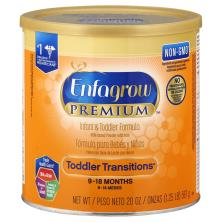 Enfagrow Toddler Transitions Infant & Toddler Formula, with Iron, Milk-Based Powder, 2 (9-18 Months)