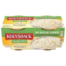Kozy Shack Simply Well Pudding, Rice, No Sugar Added