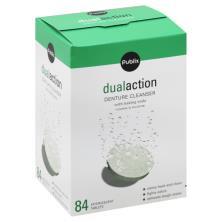 Publix Denture Cleanser, Dual Action, Effervescent Tablets